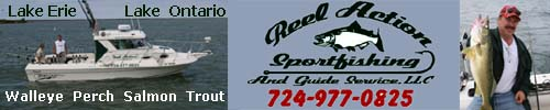 Reel Action Sport Fishing Charters 724-977-0825