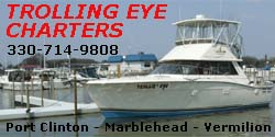 walleye charter fishing lake erie Port Clinton Marblehead Vermilion