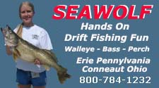 walleye charter fishing lake erie