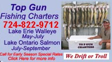 lake erie walleye fishing Port Clinton Ohio